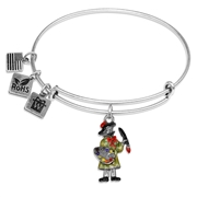 Artist Charm Bangle in Silver