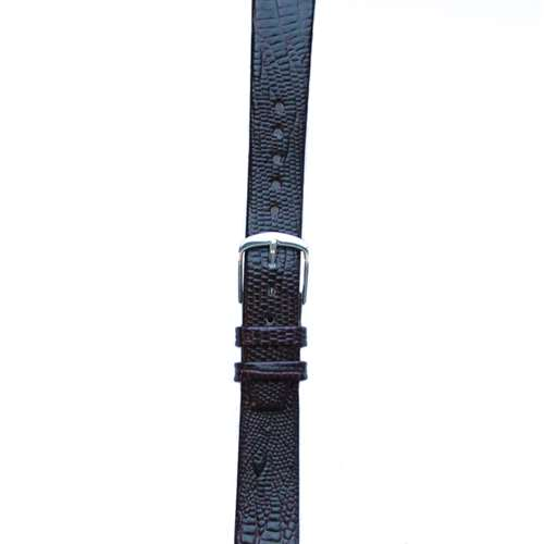 Leather Watchband Large Purple Skin with Silver Clasp