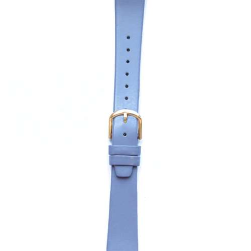 Leather Watchband Small Lavendar Gold Buckle