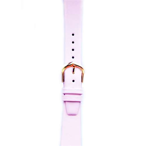 Leather Watchband Small Pink Gold Buckle