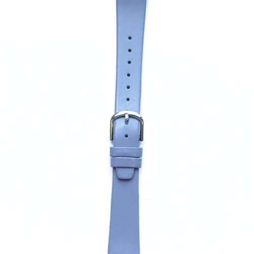 Leather Watchband Small Lavendar Silver Buckle