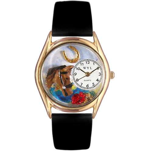 Horse Head Watch Small Gold Style