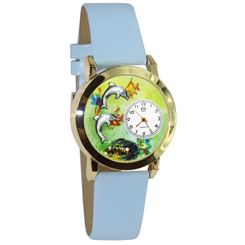 Dolphin Watch Small Gold Style