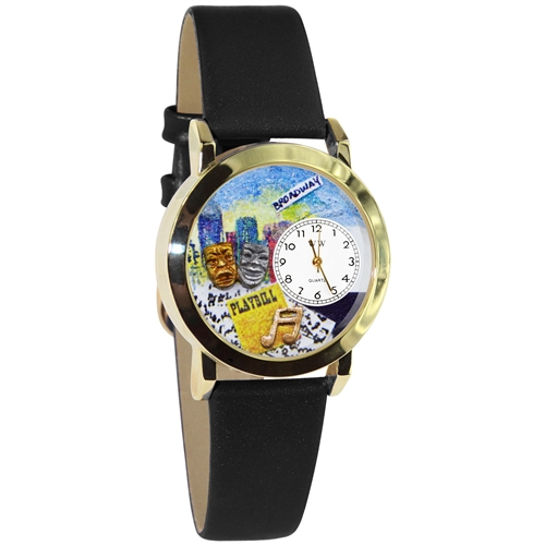 Drama Theater Watch Small Gold Style