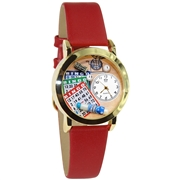 Bingo Watch Small Gold Style