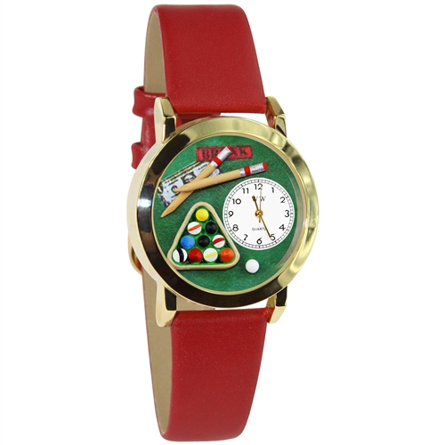 Billiards Watch Small Gold Style