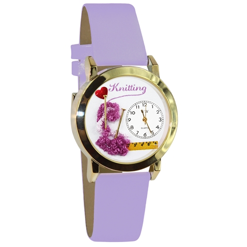 Knitting Watch Small Gold Style