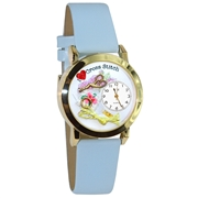 Cross Stitch Watch Small Gold Style