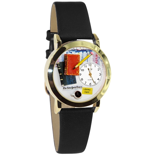 Book Lover Watch Small Gold Style