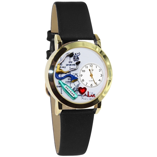 Respiratory Therapist Watch Small Gold Style