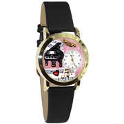 Music Teacher Watch Small Gold Style