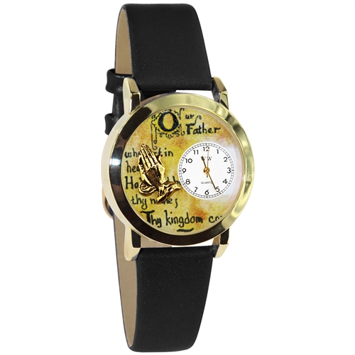 Lord's Prayer Watch Small Gold Style