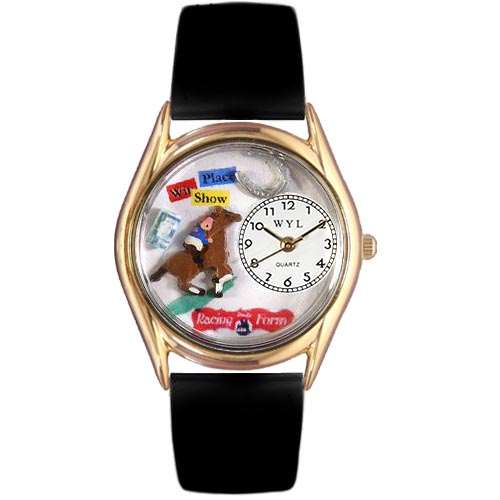 Horse Racing Watch Small Gold Style