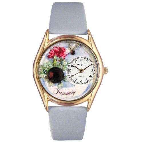 Birthstone Jewelry: January Birthstone Watch Small Gold Style