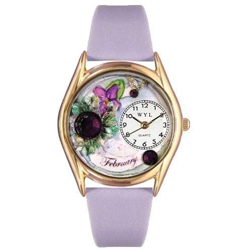 Birthstone Jewelry: February Birthstone Watch Small Gold Style