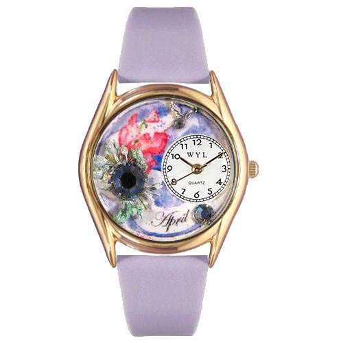 Birthstone Jewelry: April Birthstone Watch Small Gold Style