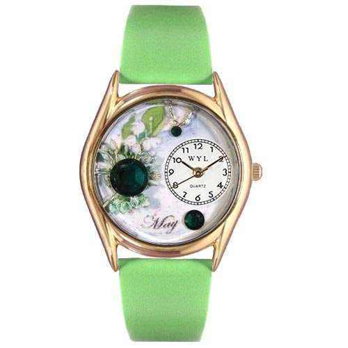 Birthstone Jewelry: May Birthstone Watch Small Gold Style