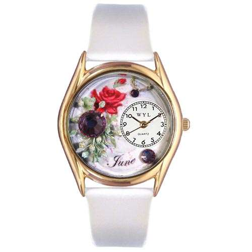 Birthstone Jewelry: June Birthstone Watch Small Gold Style