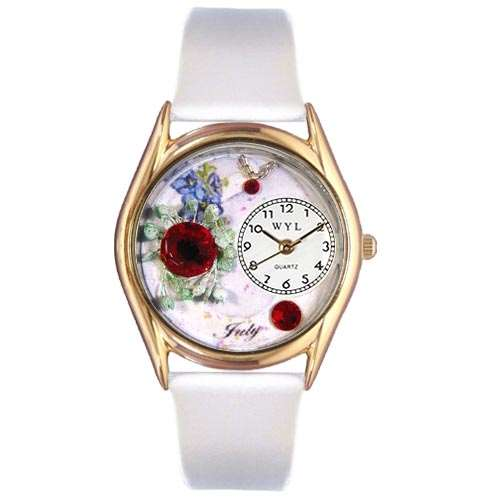Birthstone Jewelry: July Birthstone Watch Small Gold Style