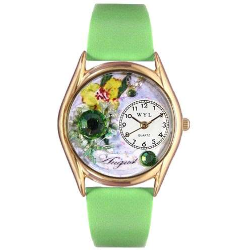 Birthstone Jewelry: August Birthstone Watch Small Gold Style
