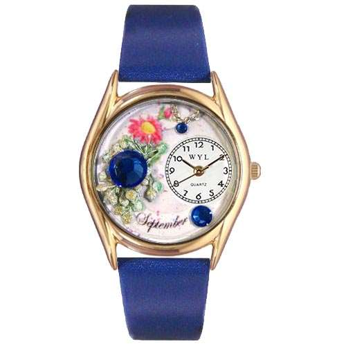 Birthstone Jewelry: September Birthstone Watch Small Gold Style