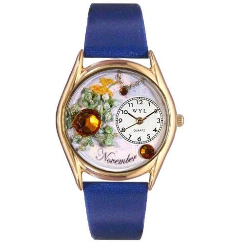 Birthstone Jewelry: November Birthstone Watch Small Gold Style