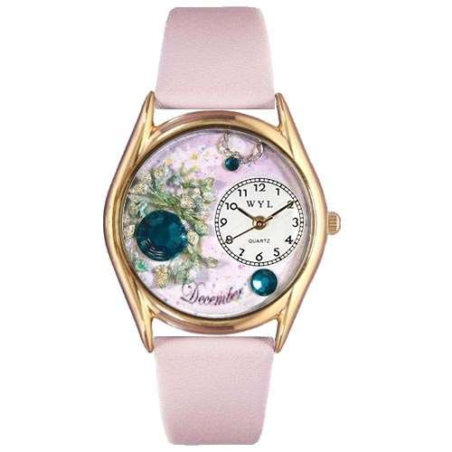 Birthstone Jewelry: December Birthstone Watch Small Gold Style