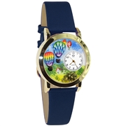 Hot Air Balloons Watch Small Gold Style