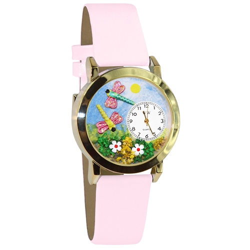 Dragonflies Watch Small Gold Style