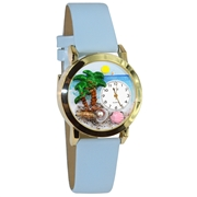 Palm Tree Watch Small Gold Style