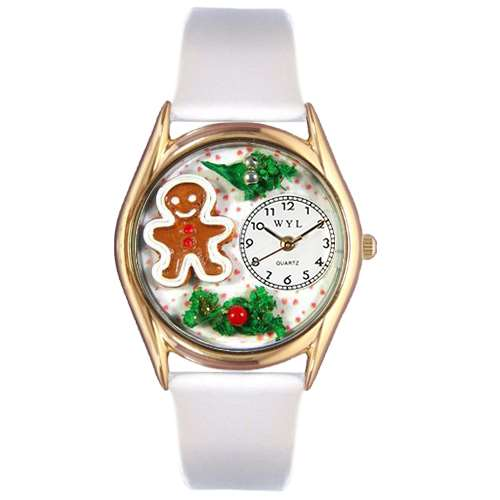 Christmas Gingerbread Watch Small Gold Style