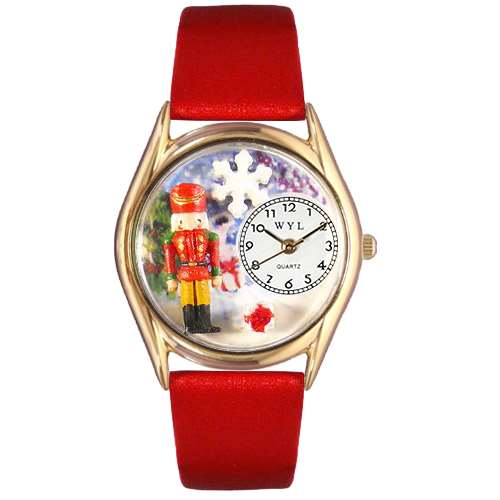 Christmas Nutcracker Watch Small Gold Style