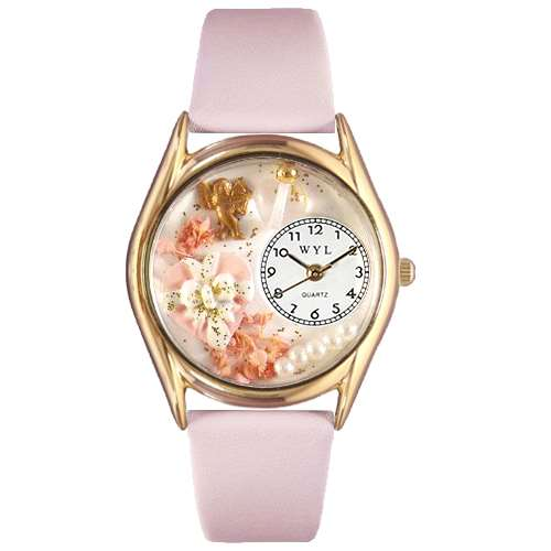 Valentine's Day Watch (Pink) Small Gold Style