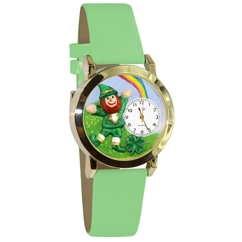 St. Patrick's Day Watch (Rainbow) Small Gold Style