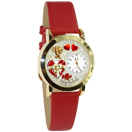 Valentine's Day Watch (Red) Small Gold Style
