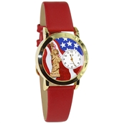 July 4th Patriotic Watch Small Gold Style