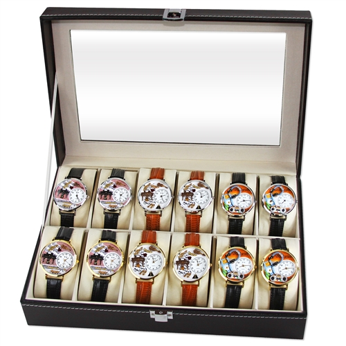 Music Lover Watch 12ct Prepack (6 Gold; 6 Silver)