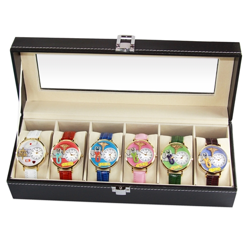Whimsical Gifts Nurse2 Watch 6ct Prepack in Gold