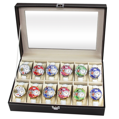 Whimsical Gifts Nurse Watch 12ct Prepack (6 Gold; 6 Silver)