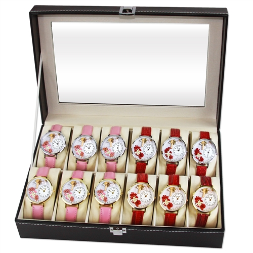 Valentine's Watch 12ct Prepack (6 Gold; 6 Silver)
