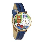 Aristo Cat Watch in Gold (Large)
