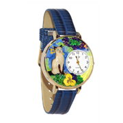 Siamese Cat Watch in Gold (Large)