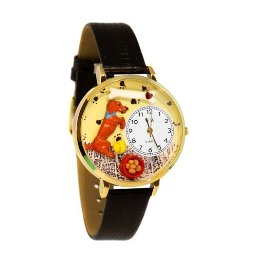 Begging Dog Watch in Gold (Large)