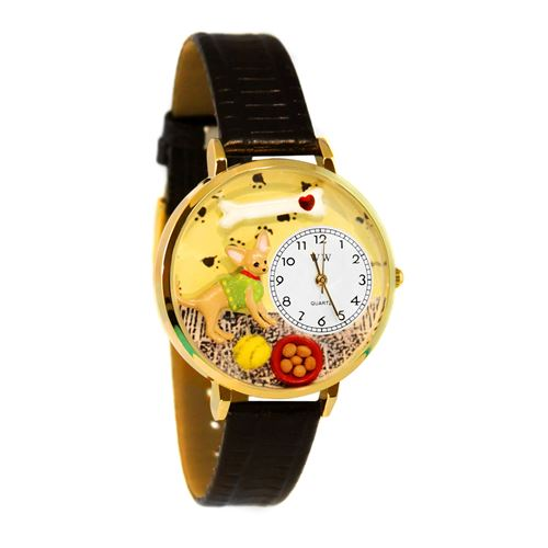 Chihuahua Watch in Gold (Large)