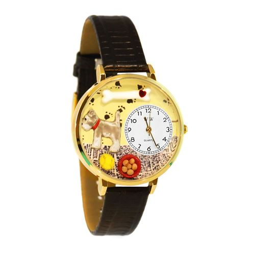 Schnauzer Watch in Gold (Large)