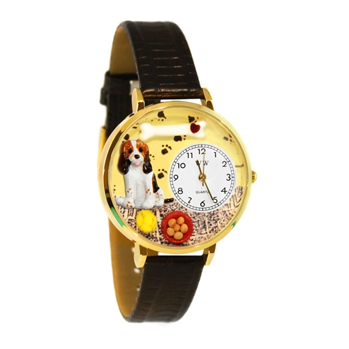 Basset Hound Watch in Gold (Large)