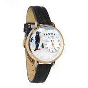 Penguin Watch in Gold (Large)