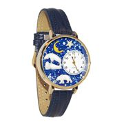 Polar Bear Watch in Gold (Large)