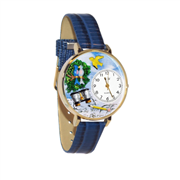 Bird Watching Watch in Gold (Large)