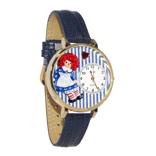 Raggedy Ann Watch in Gold (Large)